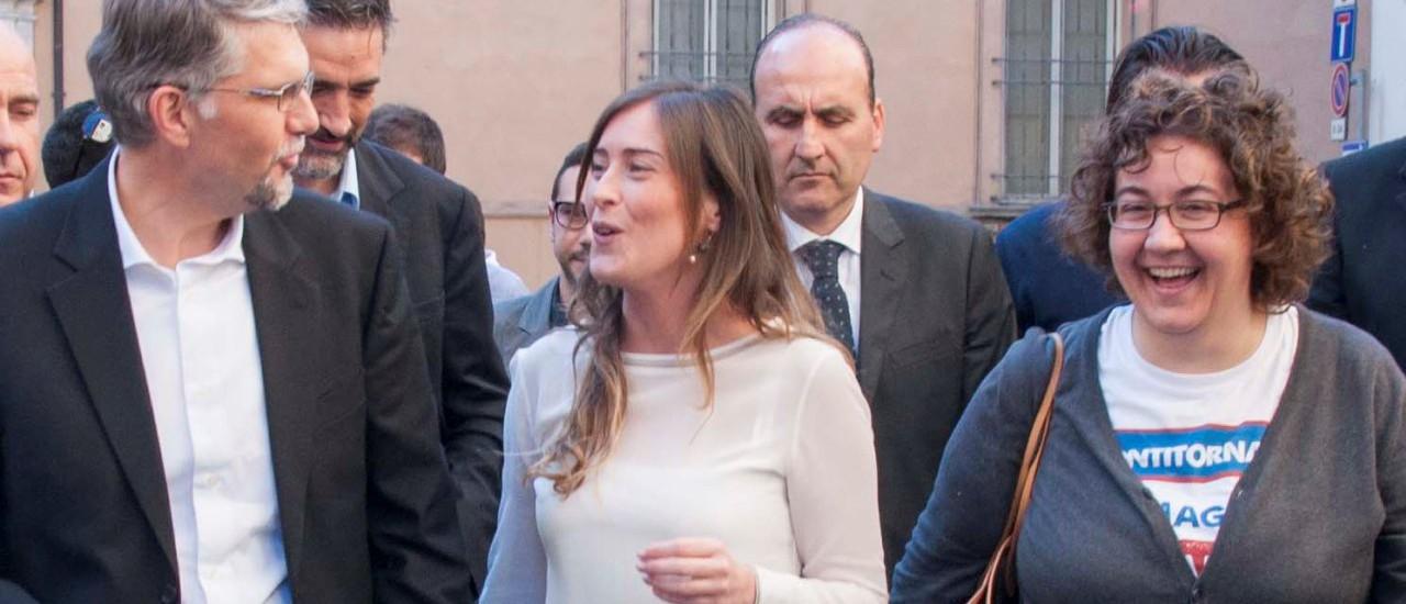 Visita del ministro Boschi a Faenza, in appoggio a Malpezzi