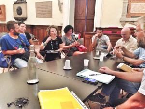 foto_incontro col comitato Giù le mani dalla pediatria
