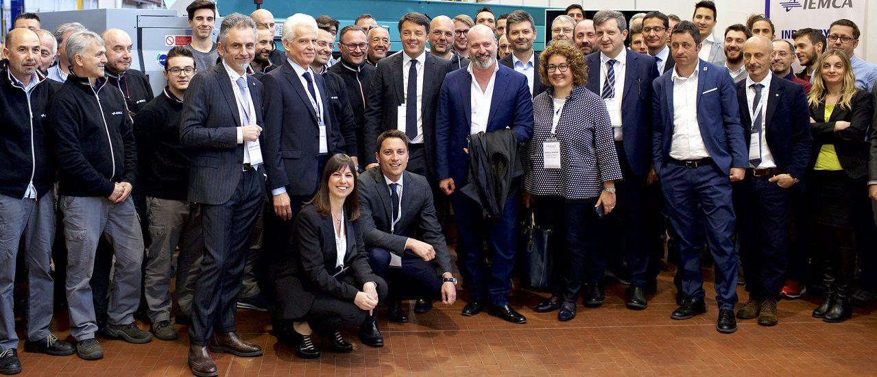 Renzi in visita al mondo del lavoro faentino